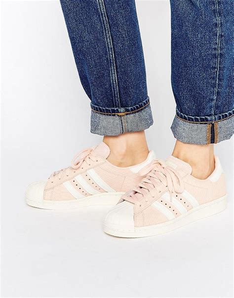 adidas originals blush pink superstar 80 s sneakers on shopstyle sneaker moment