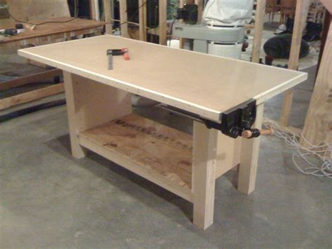 plywood bench plans workbench upgrade by steopa lumberjocks com