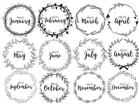 printable monthly journal covers journal monthly covers wreath monthly bullet journal
