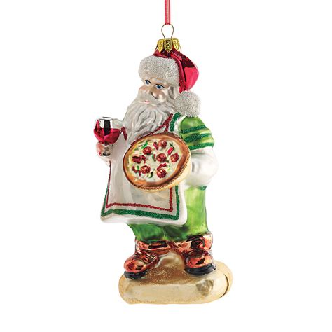 italian pizza santa christmas ornament gump s