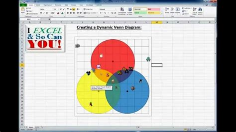 venn diagram in excel how to really make a venn diagram chart in excel
