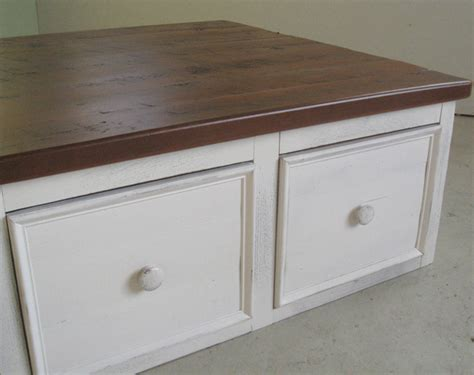 Square Coffee Table With Large Drawers Lake And Mountain Large Square Coffee Table With Drawers
