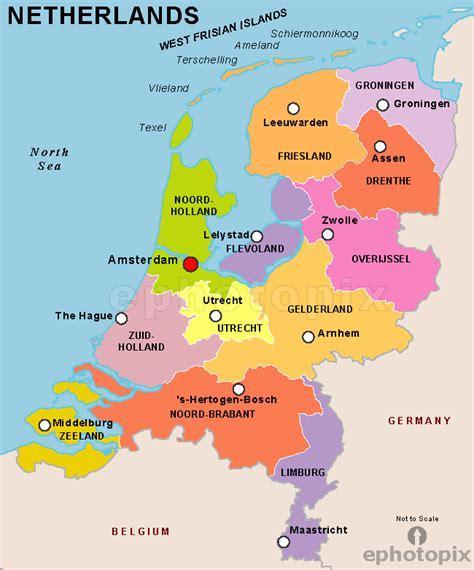 netherlands states map netherlandsholland netherlands