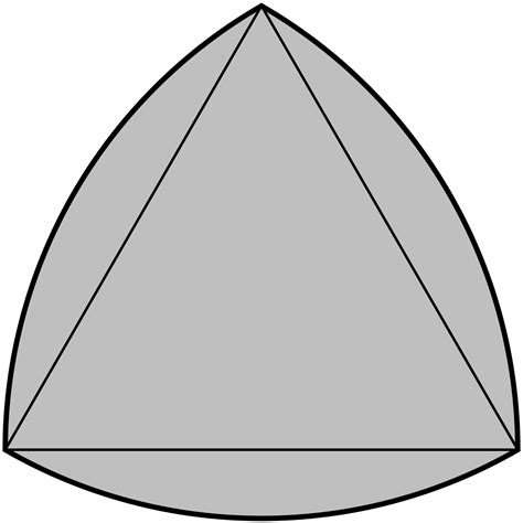Triangle On Circle reuleaux triangle