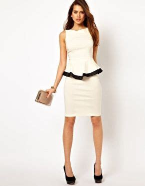 Contrast Trim Peplum Dress enlarge vesper peplum pencil dress with contrast trim