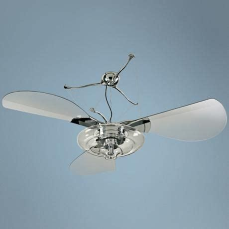 Jellyfish Ceiling Fan by 58 Quot Quorum Jellyfish Chrome Ceiling Fan With Light Kit