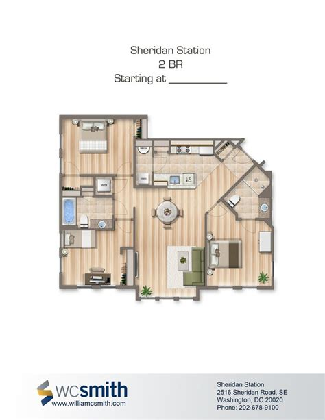 4 bedroom apartments in dc two bedroom floor plan sheridan station in southeast