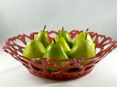modern fruit bowl large red fruit bowl heart bowl modern art contemporary