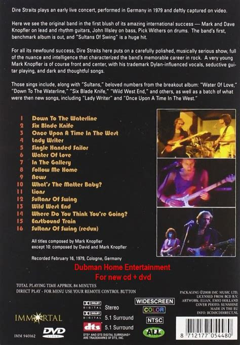 dire straits sultans of swing live in germany dire straits sultans of swing live in germany dvd ebay