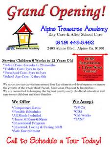 Alpine treasures academy day care amp after school care now open in