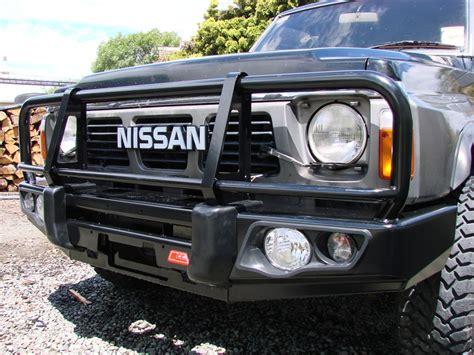 nissan patrol winch bumper nissan safari y60 gq winch bumper winch co nz
