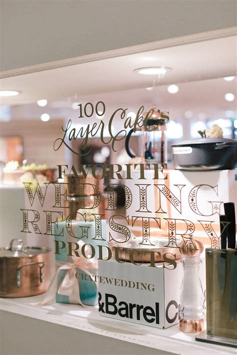 wedding registry crate and barrel crate and barrel wedding registry 100 layer cake