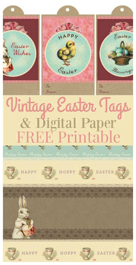 vintage gift tags printable free printable vintage easter gift tags digital paper the