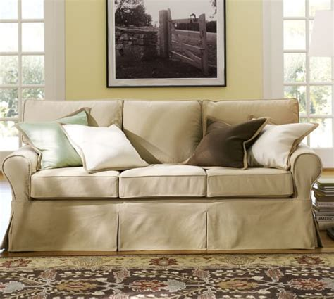 slipcovers for pottery barn sofas pottery barn slipcovered sofa home furniture design