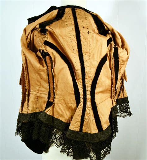 Rok Satin Velvet 20 antique early circa 1860 to 1870 silk velvet jacket jolynn antiques and