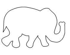 Free Elephant Templates When I First Started Looking Up Patterns I Downloaded Whatever I Elephant String Template