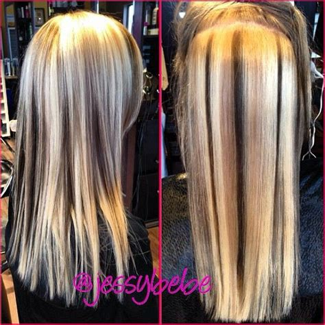 lowlights in bleach blonde hair 32 best hair extensions images on pinterest hair color