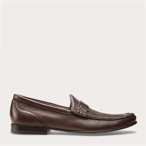 bally mocasin leather hitam bally suver s grained leather moccasin in merlot in