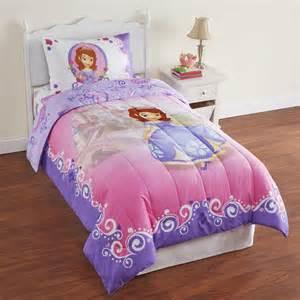 disney sofia the first girl s microfiber twin comforter
