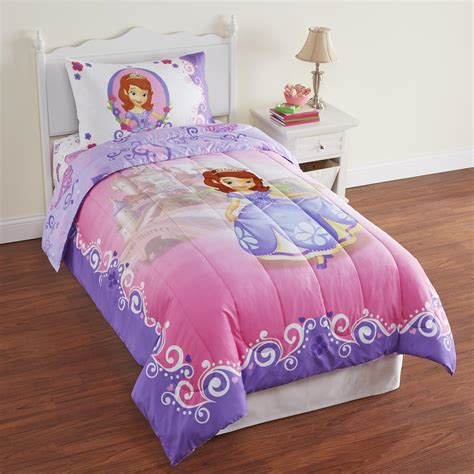 sofia the first comforter set disney sofia the first girl s microfiber twin comforter