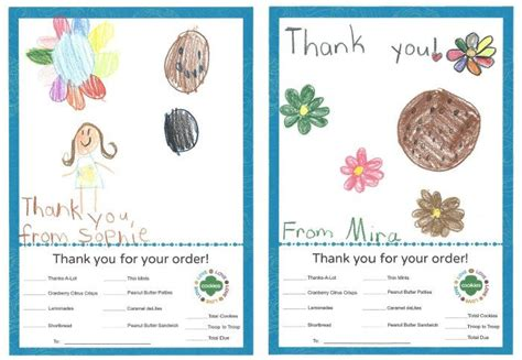 Scout Cookie Thank You Card Template by Scout Cookies Thank You Notes Free Printable See