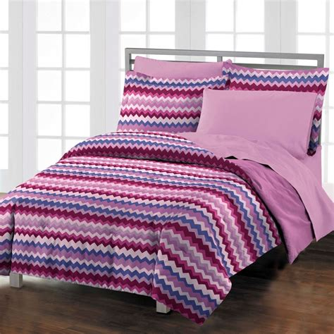 chevron twin bedding new blackberry chevron teen dorm room purple comforter