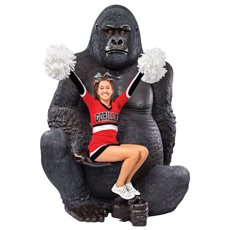 Cool Office Decor Giant Silverback Gorilla Statue The Green Head