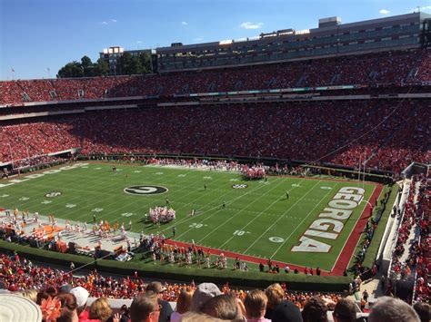 Sanford Section 8 by Sanford Stadium Section 302 Rateyourseats