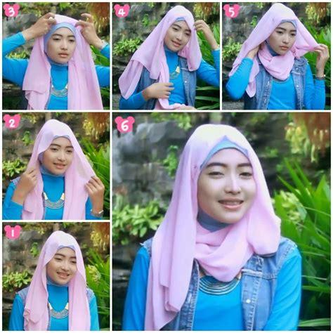 Tutorial Pashmina Ala Fatin | tutorial hijab pashmina ala fatin shidqia 1