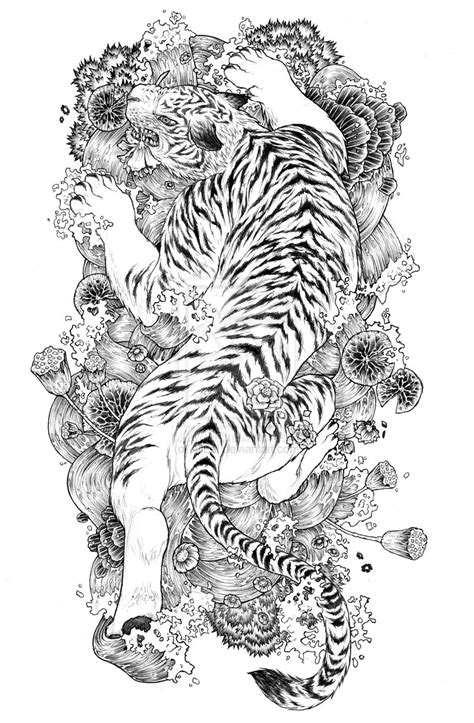asian tiger tattoo designs tiger designs the is a canvas