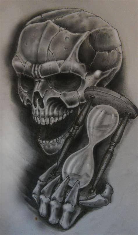 hourglass skull tattoo designs skull n hourglass by karlinoboy on deviantart