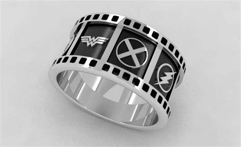 Handmade Dc Universe Superhero Wedding Band by Cicmil