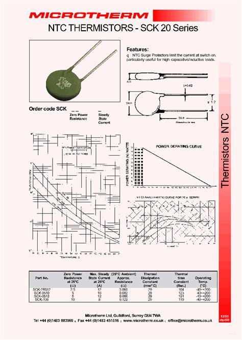 ntc thermistor sck 103 datasheet sck0510 2759556 pdf datasheet ic on line