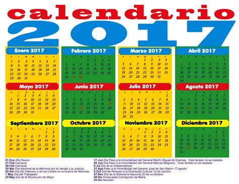 calendario 2017 colombia con feriados