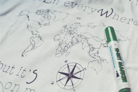 ink mapping la nuova maglietta ink your map colora la mappa con i