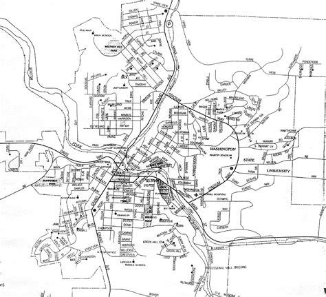 wsu map pullman washington map