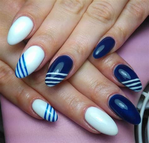 easy nail art blue and white 50 most beautiful blue nail art design ideas