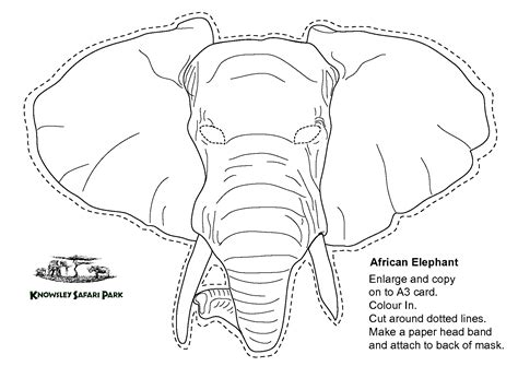 best photos of elephant head template printable elephant