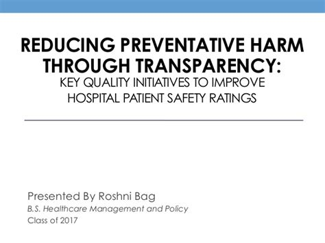 Herzing Mba Safety Reviews by Roshni Bag Thesis Presentation