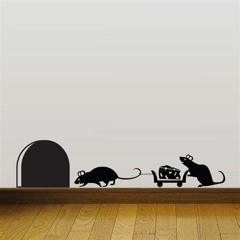 wall stickers shop mouse mice vinyl wall sticker decor decal mural kitchen pet