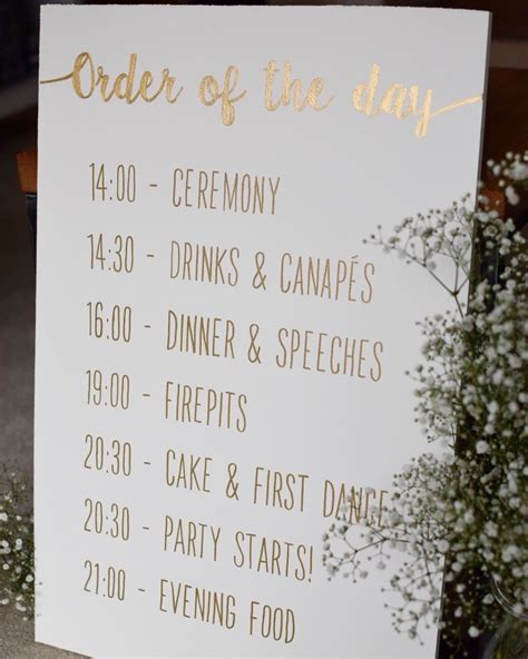 Best 25  Order of the day wedding ideas on Pinterest
