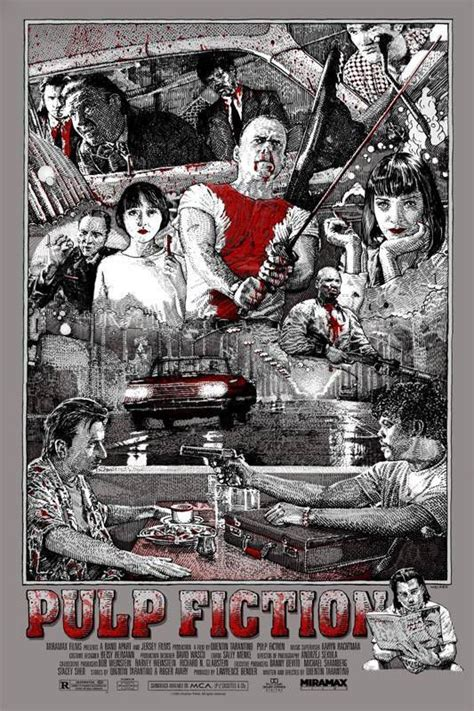 gifts for pulp fiction fans pulp fiction fan poster david welker