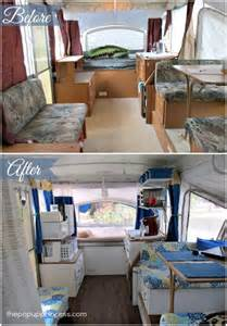 Pop Up Camper Interior Design Anne S Pop Up Camper Makeover The Pop Up Princess