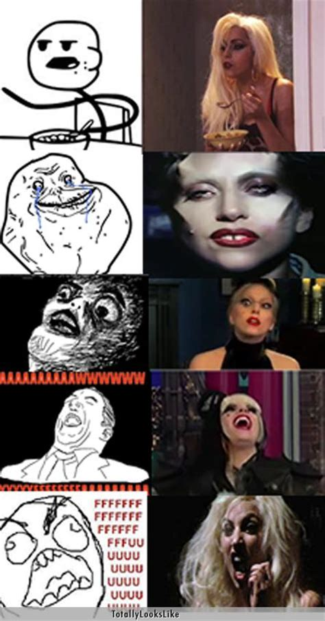 Lady Gaga Memes - lady gaga totally looks like all the different memes