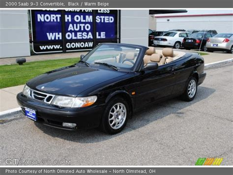 saab convertible black black 2000 saab 9 3 convertible warm beige interior