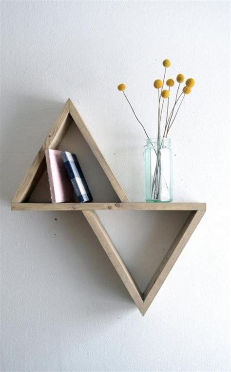 triangle wall shelf diy decorating the best diy shelves