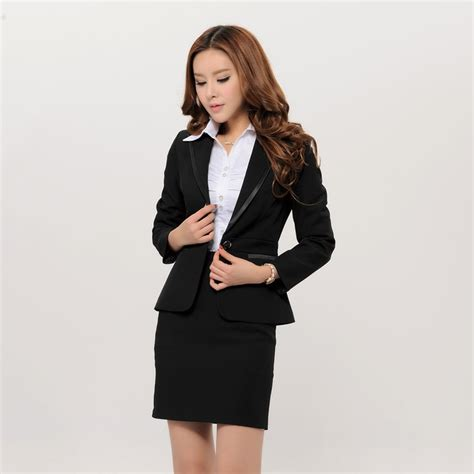 female working suits 2015 womens skirt suit sets dress yy