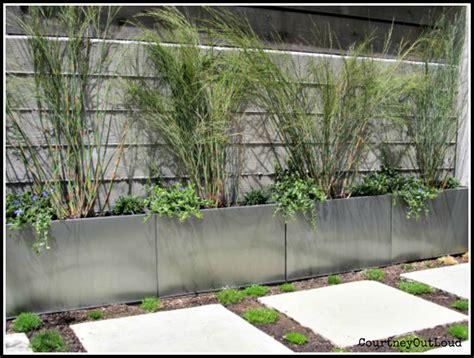 loving out loud cb2 galvanized metal planters