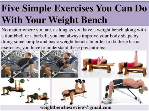 bench exercises five exercise you can do with weight bench
