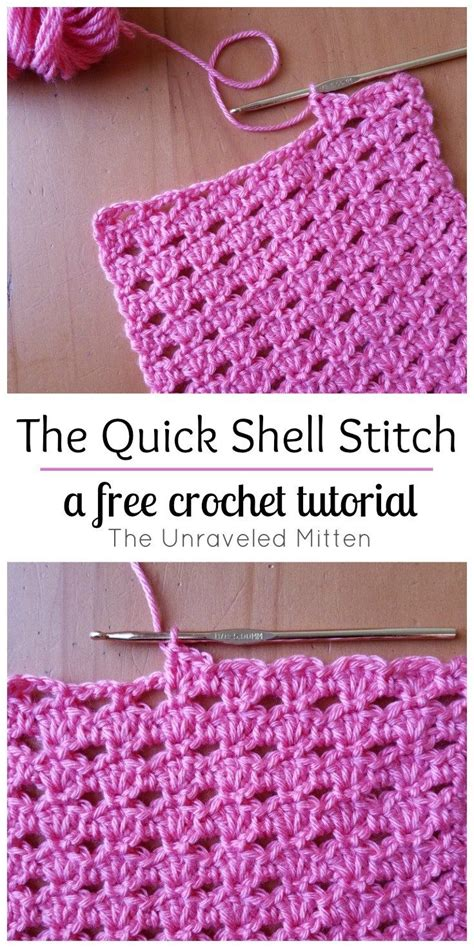 best tutorial on design patterns the quick shell stitch a crochet tutorial free crochet